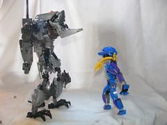 The Adversary 9 (quartzroolz) Tags: quartz roolz moc big burly man bionicle robot toa titan android bustersword guns skull spider mask god thats alot over design