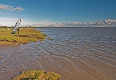 The Tide in at Gretna (penlea1954) Tags: gretna scotland uk sea shore beach rowing boat boats solway firth dumfriesshire dumfries galloway water ocean outdoor coast landscape seaside wind surfer windsurfer