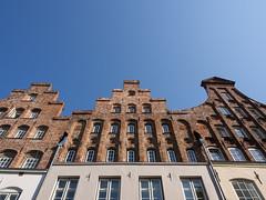 Altstadt von Lbeck (7) (Teelicht) Tags: architektur deutschland fassade germany schleswigholstein architecture housefront lbeck altstadt historicdistrict oldtown