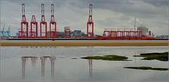 Liverpool 2 Deep Water container Terminal 7th October 2016 (Cassini2008) Tags: portofliverpool liverpool2deepwatercontainerterminal zhenhue8 china cranes rivermersey liverpool