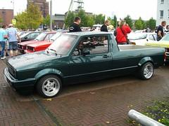 VW Caddy XXL (911gt2rs) Tags: treffen meeting show event tuning tief low stance dietrich umbau custom grün green pickup golf 1 youngtimer truck coachbuilt