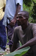 2016 Oct - Saturne Bonheur coffee farmer (Foods Resource Bank) Tags: haiti caribbean coffee farmers men women pruning improved income humanitarian food security development charity hunger