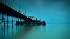 Dawn (hall1705) Tags: dawn beach blue pier d3200 nature longexposure le calm sea sussex shore seascape seaside structure architecture reflection