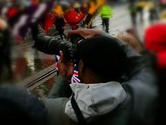Take the Shot (theGR0WLER) Tags: photographer snap superzoom lens dslr spectator crowd parade manchester mobile
