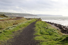 Trackbed (Cumberland Patriot) Tags: solway firth workington salterbeck moss bay shore beach seaside sea seas wave waves cliff cliffs slag bank rock rocks coast landscape railway trackbed track bed abandoned disused erosion eroded