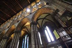 Inside Glasgow cathedral (25) (dddoc1965) Tags: dddoc davidcameronpaisleyphotographer glasgow cathedral necropolis landmark scotland october 7th 2016 cloudy precinct autumn yellow trees windows ceiling stone arcitech flags kenny game thrones