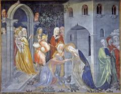 Salimbeni - The Virgin Mary departs after Elizebeth has delivered her baby John (petrus.agricola) Tags: lorenzo jacopo salimbeni scenes life saint john baptist urbino marche italy oratorio san giovanni battista