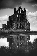 2 reflection (pamelaadam) Tags: whitby engerlandshire summer august 2016 holiday2016 digital fotolog thebiggestgroup bw building abbey whitbyabbey