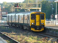 150232 Exeter St Davids (1) (Marky7890) Tags: gwr 150232 class150 sprinter dmu 5j90 exeterstdavids railway devon train
