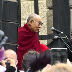 His Holiness the 14th Dalai Lama (janjaromirhorak) Tags: prague praha dalailama dalajlma dalajlama his holiness tibet greeting