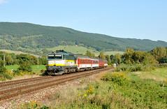 "754.055-2 (""SAPPHIRE"") Tags: outdoor hill landscape rail road railroad locomotive maina vlak fast zug schnell train 7540552 754055 754 055 r 934 domica okuliarnik okaa retro diesel"