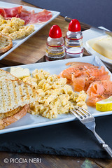 Scrambled eggs with salmon (PicciaNeri) Tags: bread breakfast butter cuisine curedmeat delicious eat egg energy fatty fish food fresh fried hot meal meat morning nutrition nutritious pepper pork prosciutto protein salmon savoury scrambled seasoning smoked toast woodenbackground