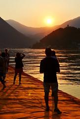 Floating sunset (DavideB-ph) Tags: floatingpiers floating piers lake iseo lago brescia lombardia italia italy sunset tramonto contrasti geometrie nikon d3100