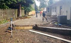 20160125_103644 (ajbservice) Tags: concrete patio retainingwall woodfence