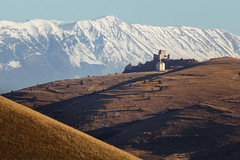 Rocca Calascio and the Majella massif - an epic landscape (luigig75) Tags: italy mountains castle lady movie landscape italia hawk hills rolling abruzzo majella matthewbroderick rutgerhauer michellepfeiffer calascio roccacalascio monteamaro parconazionaledelgransassoemontidellalaga parconazionaledellamajella
