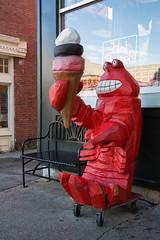 Ice Cream, Bar Harbor, ME, September, 2014 (Norm Powell (napowell30d)) Tags: fineart sidewalk lobster travel street icecream maine storefront fall barharbor mountdessertisland