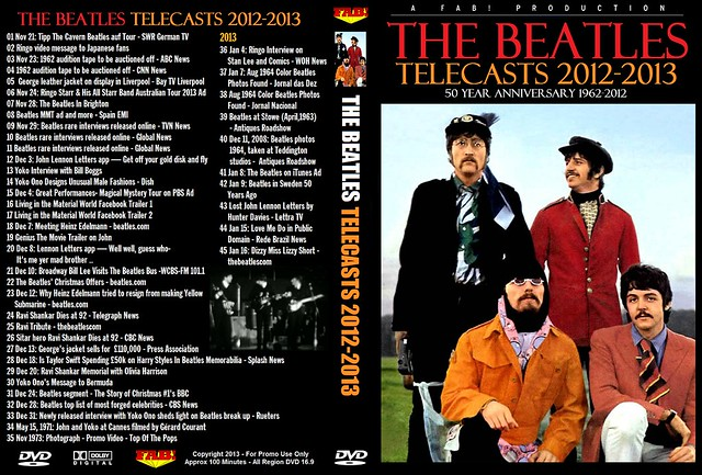 The Beatles Telecasts 2012-2013