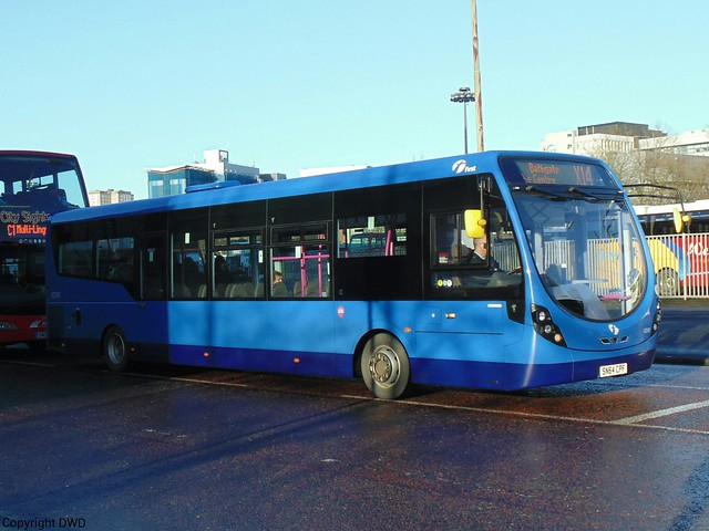 First Bluebird 63247 - SN64 CPF at Buchanan Bus Stn