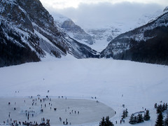 2006 - Ice Skaters (Wilson Hui) Tags: winter snow canada mountains cold sony skating skaters alberta banff rockymountains lakelouise lakeview iceskaters icecastle frozenlake canadianrockies chateaulakelouise sonyw7 fairmontchateaulakelouise