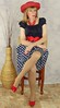 DSC03720 (msdaphnethos) Tags: red stockings girl tv pumps legs cd tgirl transgender polkadots redhat blonde transvestite heels hosiery rockabilly pantyhose crossdresser nylons daphnethomas revlonlovethatred