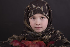 (Ana Lukascuk) Tags: portrait apple girl child country shawl opop