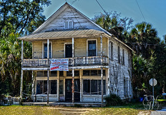 Old Brush General Store (Mike Woodfin) Tags: park wood windows white house color heritage history window contrast photoshop canon photography photo cool pretty fuji florida photos country picture photograph porch historical weathered fl cracker crusty interlachen mikewoodfin mikewoodfinphotography