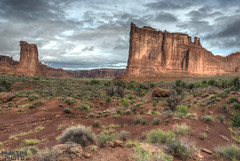 Park Avenue End (Bill Maksim Photography) Tags: park travel camping autumn winter summer water stars landscape photography star hotel three utah photo bill spring high dangerous sandstone desert dynamic flood flash trails arches roadtrip denver tent canyon falls story trail national ave canyonlands moab bighorn slot furnace delicate archesnationalpark distance length blizzard range hdr fiery milkyway maksim blackangel gossips
