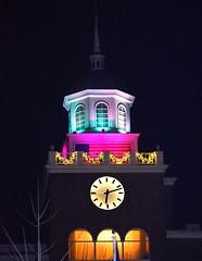 Atop the Garden City Hotel (DOTCALM9) Tags: december longisland clocktower christmaslights gardencity 2014 nassaucounty gardencityhotel nikond5100