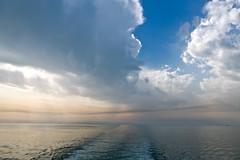 (Hdpsp) Tags: blue sea sky seascape water clouds skyscape island boat ship gulf arabia sail kuwait failaka