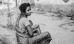God Gifted (Anita Sathiam's Click) Tags: poverty life old family portrait people bw woman india history love smile lady photography star healthy worship village child place feeding indian traditional ngc innocent daughter culture happiness visit clean independent expressive breastfeeding potrait motherhood discovery enjoyment stree tamilnadu housewifes favaorite gography anitasathiam