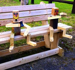 Cheers! (JulieK (busy ++ trying to catch up with comments)) Tags: ireland irish bench fun toy wooden kerry killarney 27 stickmen munster iphone4 ilobsterit 115picturesin2015 2015onephotoeachday