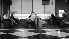O'Hare (mfhiatt) Tags: street blackandwhite chicago streetphotography ohareairport mfhiatt day48 day47365 365the2015edition day48365 2152015 3652015 2015michaelfhiatt dscf37990215jpg 215in2015 image25215 17feb15