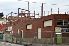 2500 Smallman Construction, Strip District, Pittsburgh, February 2015 (evz922) Tags: city urban living construction pittsburgh pennsylvania district steel strip frame dollar million coming condos development soon 2500 smallman