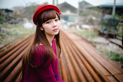 A7R Zeiss Makro Planar  50 F2 (Ethan) Tags: red portrait hat zeiss asian 50mm sony naturelight a7r