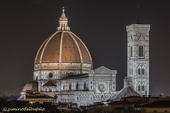 Florence | Santa Maria del Fiore and Giotto's bell tower. Night view. (Ciminus) Tags: italy landscape florence tuscany giottosbelltower cupoladelbrunelleschi nikond810 basilicaofsantamariadelfiore afs2470mmf28gedlens