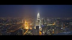 The Center of Attraction (Art-slice) Tags: photography petronas cityscapes places malaysia fujifilm bluehour kualalumpur 12mm visits dri hisham twintower kltower skyview digitalblending samyang xt1 shamcool