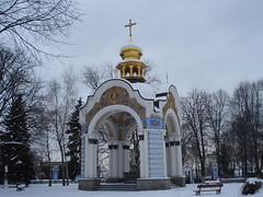 Bell Tower (Alexanyan) Tags: city tower cross bell capital ukraine christian ukrainian orthodox kiev киев україна київ украина ուկրաինա կիե