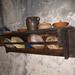 Medieval kitchen shelf