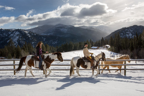 Triple Creek Ranch Winter Horseback Ride