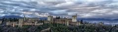 El Embrujo de La Alhambra - Granada (Manolo - Pap Pitufo) Tags: espaa canon eos andaluca paisaje cielo alhambra granada nubes manolo tamron panormica 60d