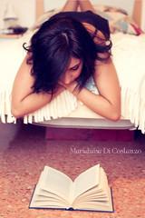Reading (Mary-Eloise) Tags: portrait woman colors portraits vintage reading book donna bed bedroom solitude sunday libro boredom boring read leggendo lonely colori ritratti ritratto dull noia letto nothingtodo leggere solitudine softcolors noioso uggioso vintagecolors lonelysunday nientedafare