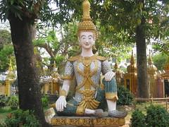 Buddha Statue in Wat Phra Kaew Vientiane
