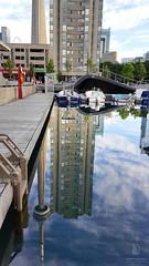 CN Tower Upside Down (kaprysnamorela) Tags: toronto ontario canada harbourfront lake image mirrorimage nikond3300