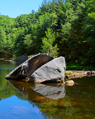Rock House Reservation (Carter's Pond) (DaveLawler) Tags: house reflection rock pond massachusetts newengland sunny brookfield reservation westbrookfield carterspond
