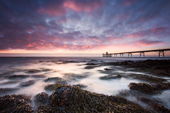 Seaweed Sunset (~g@ry~ (clevedon-clarks)) Tags: 10stopnd landscape northsomerset reflections ukeurope clevedon clevedonpier landmark longexposure moodyclouds outdoor pier sea seascape somerset storm sunset victorian victorianpier water uk europe
