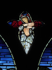 Angel Musician (Aidan McRae Thomson) Tags: lichfield church staffordshire stainedglass window preraphaelite morrisco johnhenrydearle angel