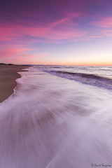 Ephemeral Moments II. [Explored & FP 07-10-2016] (dasanes77) Tags: ocean longexposure blue red sea orange seascape beach valencia vertical sunrise landscape dawn sand waves peace dunes horizon tripod tranquility calm cloudscape canonef1635mmf4lisusm ephemeralmoments cloudsmovement canoneos6d albuferaofvalencia lagarroferabeach