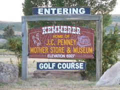 Kemmerer City Limits (jimmywayne) Tags: kemmerer wyoming lincolncounty homeof motherstore jcpenney welcome citylimit sign