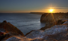 SUNSET LAGOS (Norman Treffkorn) Tags: ocean sunset sea cliff portugal water pacific lagos cave pacifiv