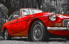 Red MG (phunnyfotos) Tags: phunnyfotos australia victoria vic gippsland warragul car vintage classiccar mg sportscar red nikon d750 nikond750 wheel tyre tire spokes headlight headlamp morris morrisgarages mgmotors